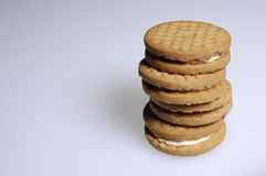 Cookies. Stacked cookies Royalty Free Stock Photo