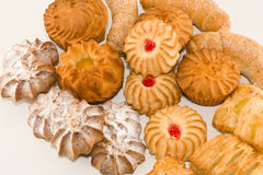 Cookies. Pastries - delicious variety of cakes Royalty Free Stock Photo