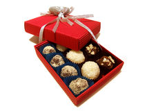 Cookies. In red a gift box Stock Photography