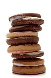 Cookies. Stack of cookies on white background Royalty Free Stock Photography