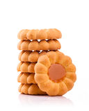 Cookies. Some cookies isolated on a white background stock images