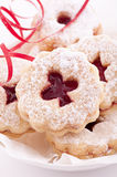 Cookies. Spitzbuben christmas cookies as closeup Stock Photography