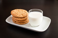 Cookies. Homemade cookies and a glass of milk Royalty Free Stock Photography
