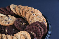 Cookies 2. Variety of cookies arranged on a platter Royalty Free Stock Photo