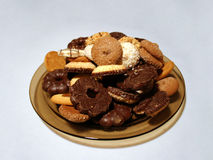 Cookies 2. A plate with cookies royalty free stock image