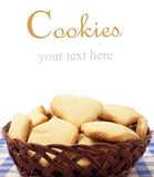 Cookies. Isolated on white. With sample text stock photography