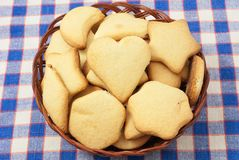 Cookies. Nice cookies in the basket Stock Images