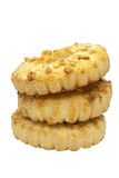Cookies. Stack of cookies with peanuts. This has a clipping path Stock Photos