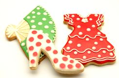 Cookies. Decorated with motifs of Andalusian folklore Stock Photo
