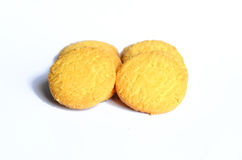 Cookies. On white background Isolated royalty free stock photos