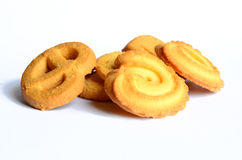 Cookies. On white background Isolated stock photos