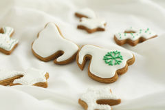Cookies. Angel wings icing cookies ,delicious teatime Stock Photography