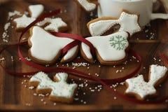 Cookies. Angel wings icing cookies ,delicious teatime Royalty Free Stock Image