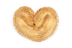 Cookies. In the shape of a heart on a white background Stock Photos