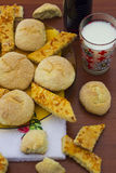 Cookies. Delicious fresh baked cookies in plate and on table Royalty Free Stock Photography