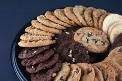 Cookies 3. Variety of delicious cookies on a platter Royalty Free Stock Photography