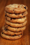 Cookies. A stack of chocolate chip cookies royalty free stock photography
