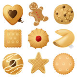 Cookies vektor illustrationer
