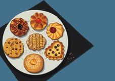 Cookies ilustração stock