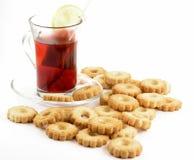 Cookies. And tea stock photos