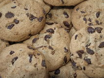 Cookies. A selection of chocolate chip cookies stock photography