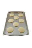 Cookies. Sugar cookies freshly baked on a cookie sheet Royalty Free Stock Photos