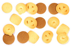 Cookies. Against white background Royalty Free Stock Photography