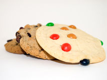 Cookies. Three cookies isolated on a white background Stock Image