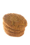 Cookies. Fresh brown cookies isolated on white background Stock Images