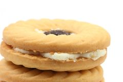 Cookies. A close up photo of two cookies stacked on each other Royalty Free Stock Image