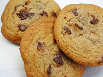 Cookies. Chocolate chip cookies stock photo