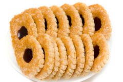 Cookies. Of puff paste isolated Stock Photos