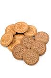 Cookies. Isolated on white background stock photo