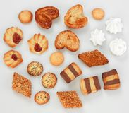 Cookies. Close up on white background royalty free stock images