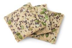 cookies Açúcar-livres com sementes de abóbora, alimento do diabético Imagem de Stock Royalty Free