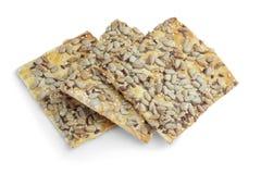 cookies Açúcar-livres com sementes de girassol, alimento do diabético Imagens de Stock