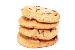 Cookies against a stack of chocolate chip cookies Stock Photos