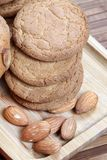 Cookies and almonds Royalty Free Stock Images