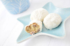 Cookies with almonds Royalty Free Stock Photo