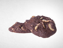Cookies or Almonds chocolate cookies on background. Royalty Free Stock Photo