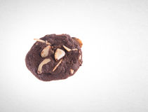 Cookies or Almonds chocolate cookies on background. Stock Photography