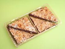 Cookies with almonds and chocolate Stock Photos