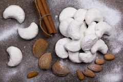 Cookies with almonds Stock Images