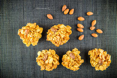 Cookies with almonds Royalty Free Stock Images