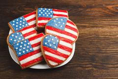 Cookies with American patriotic color Stock Photography