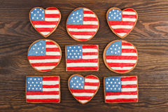 Cookies with American patriotic colors Royalty Free Stock Image