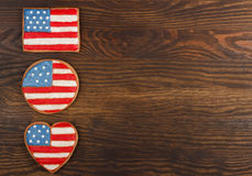 Cookies with American patriotic colors Stock Photography