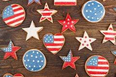 Cookies with American patriotic thematic color Stock Image