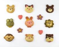 Cookies animais bonitos Fotografia de Stock