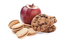Cookies and Apple Royalty Free Stock Images
